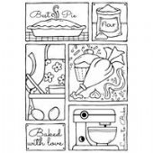 Woodware - Baking Sampler - Clear Magic Single Stamp - FRS606